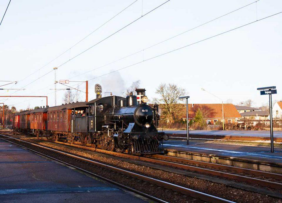 Veterantoget med damplokomotivet kører igen mellem Vojens og Haderslev Arkivfoto: René Holm