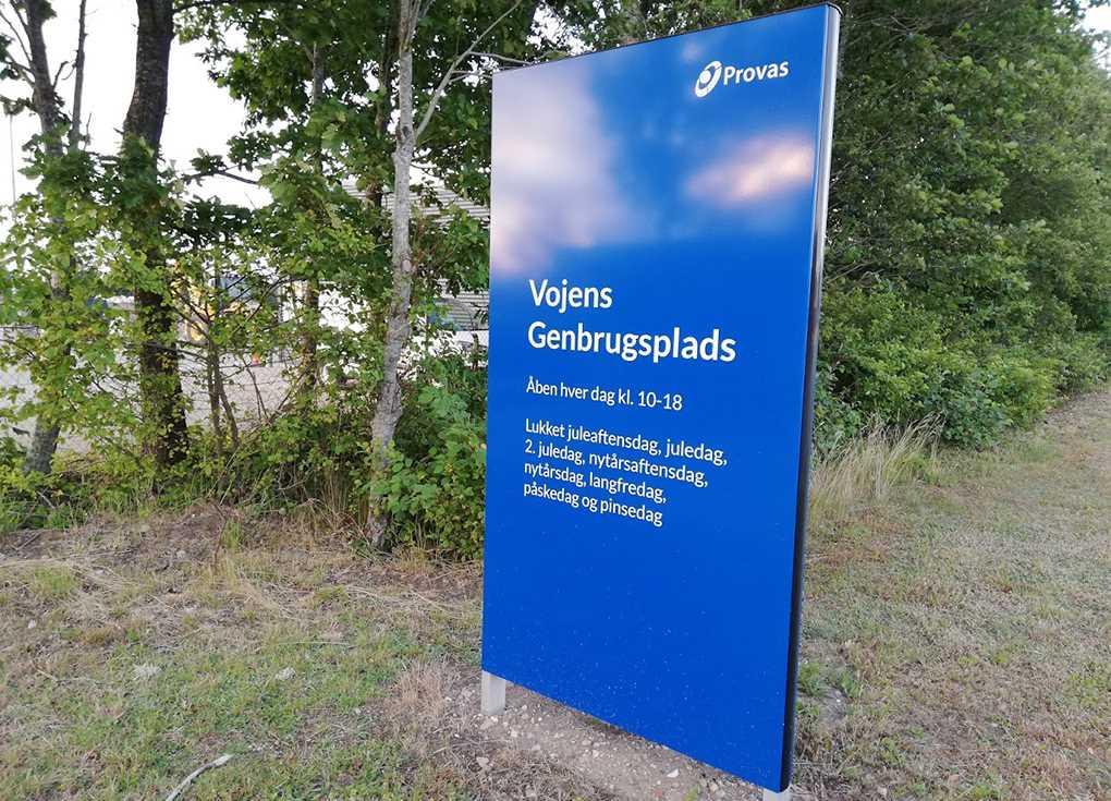 Vojens Genbrugsplads Arkivfoto: René Holm