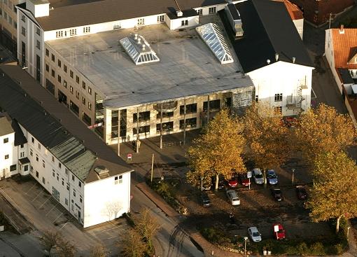 Aktivitetshuset Bispen i Haderslev danner ramme om kulturel talentudvikling. Foto: ABC Luftfoto