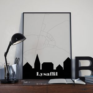 Lysabild by plakat