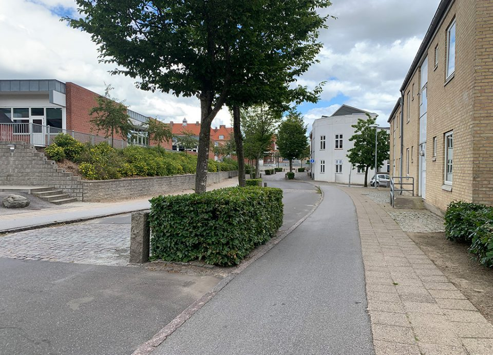 Slagtergade set fra Bøndergårdene Foto: Pressefoto