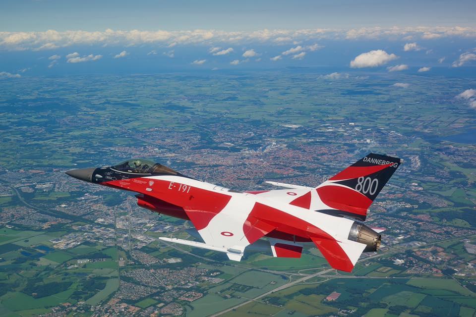 F16 dannebrog Foto: Fighter Wing Skrydstrup