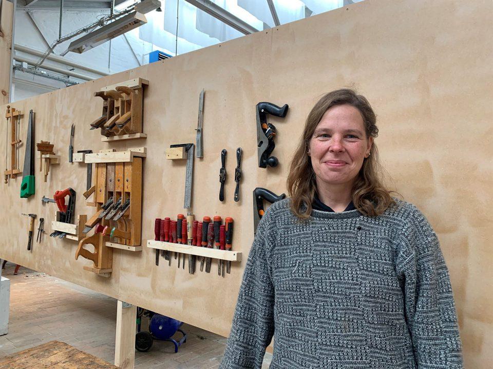 Værkstedskoordinator Daniela Günther Andersen fra Slesvigske Vognsamling Foto: Pressefoto