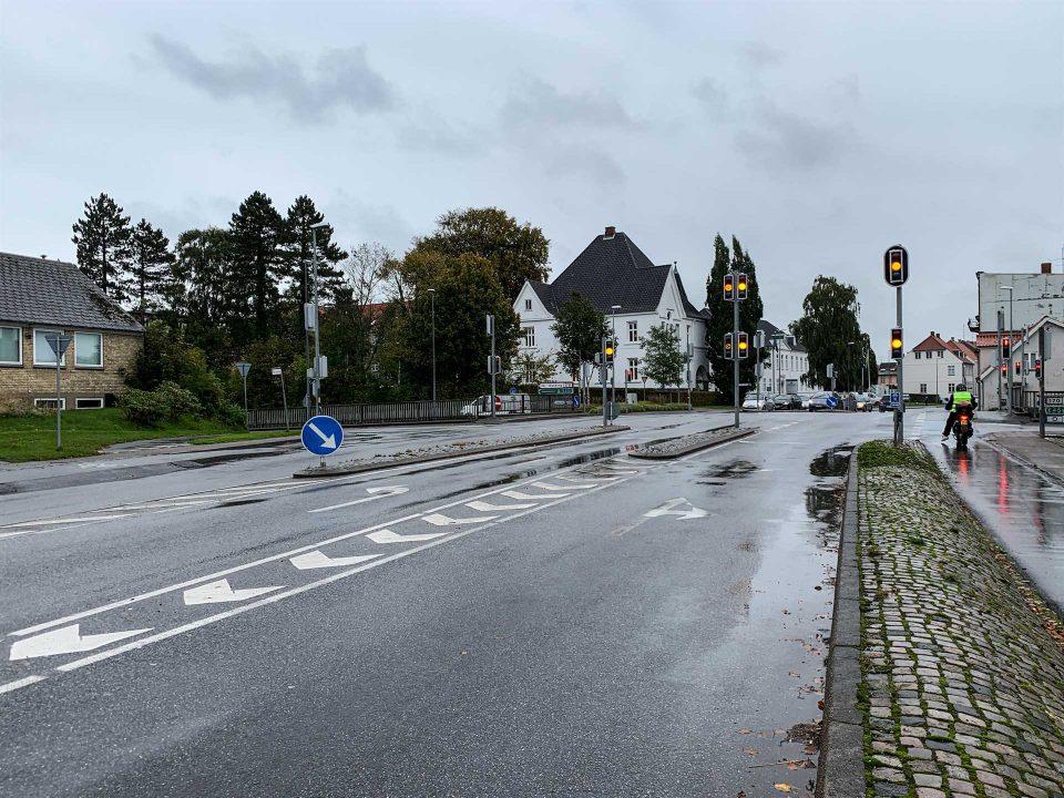 Krydset over omfartsvejen, ska have en høje svingbane Foto Pressefoto