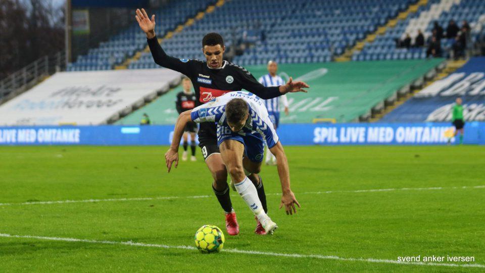 Alexander Bah bragte lidt spænding tilbage i kampen mod FCK Foto: Svend Anker Iversen