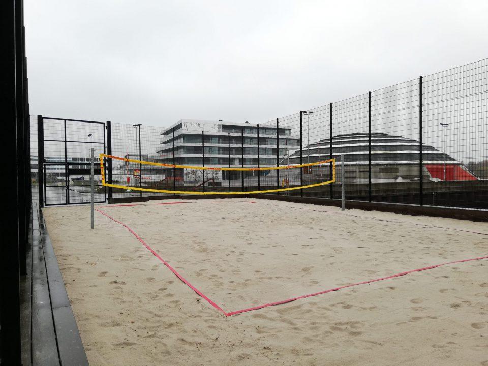 Beachvolleybanen på Haderslev Havn Foto: René Holm