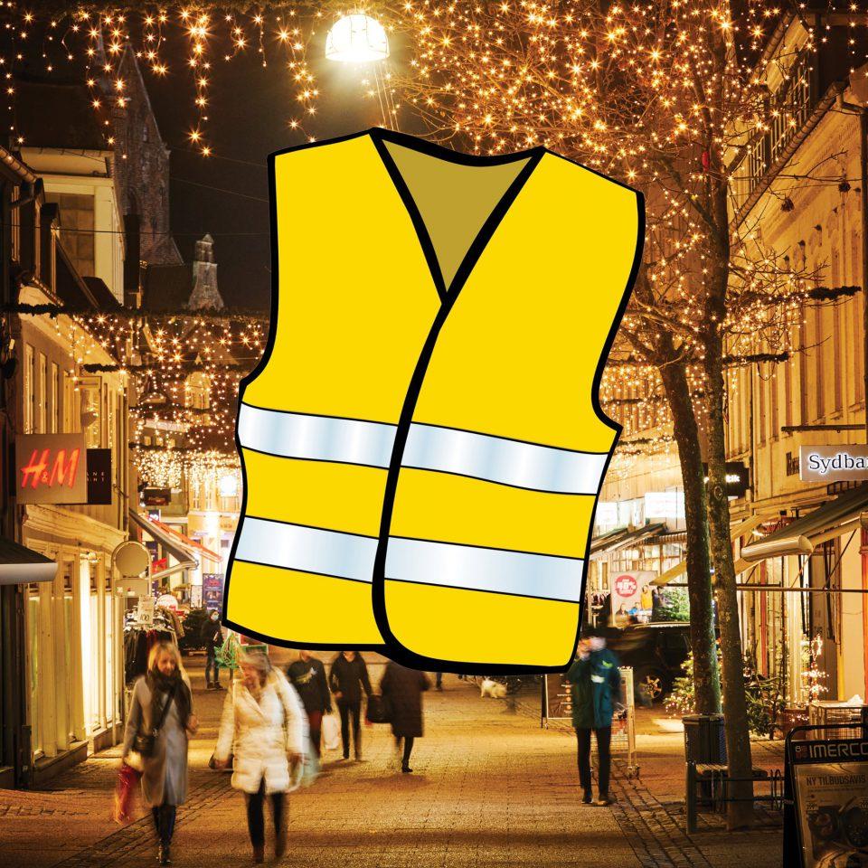 Haderslev butikkerne vil hjælpe til Coronasikker julehandel i gågaden Foto: Facebook