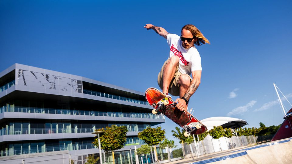 Skater ved Haderslev Streetdome Foto: René Holm
