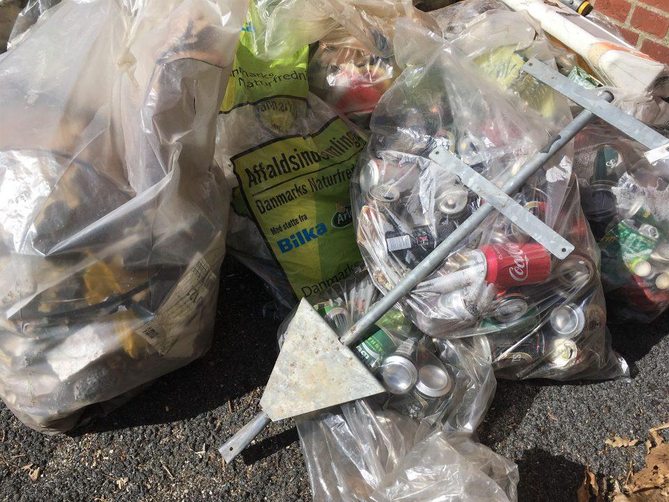 Affald indsamlet i Vojens i 2019 Foto: Pressefoto