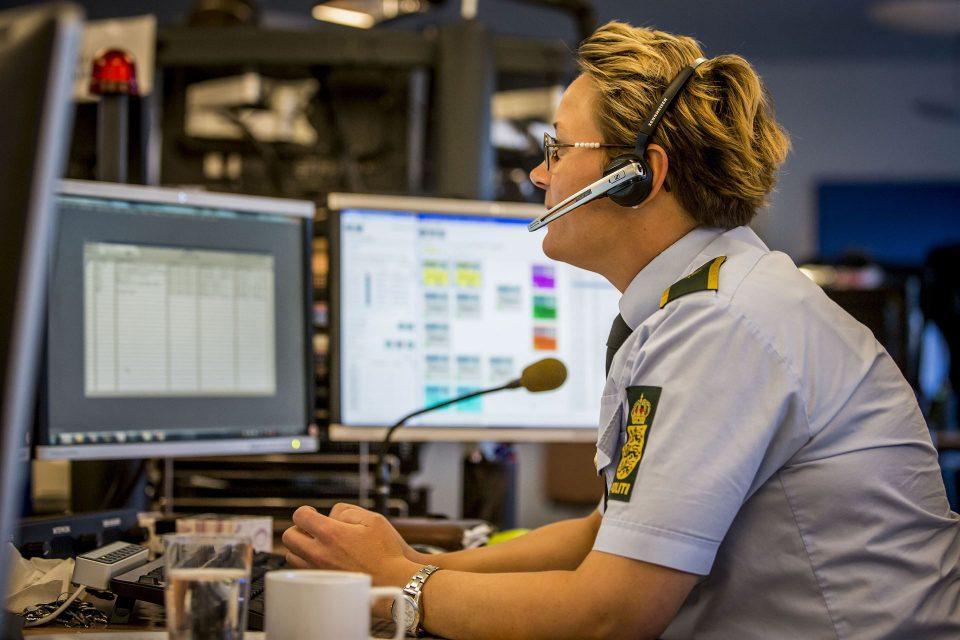 Politi vagtcentral Presefoto Politi.dk/Kim Matthai Leland