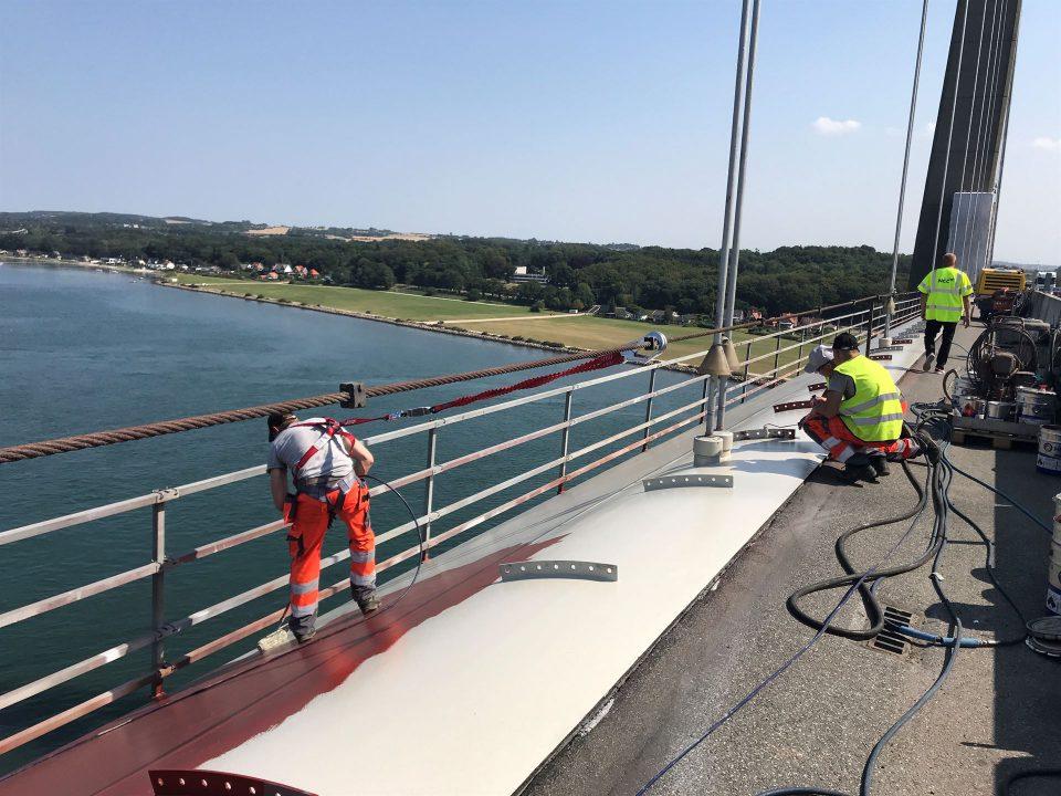 Arbejde på Lillebæltsbroen Foto: Pressefoto