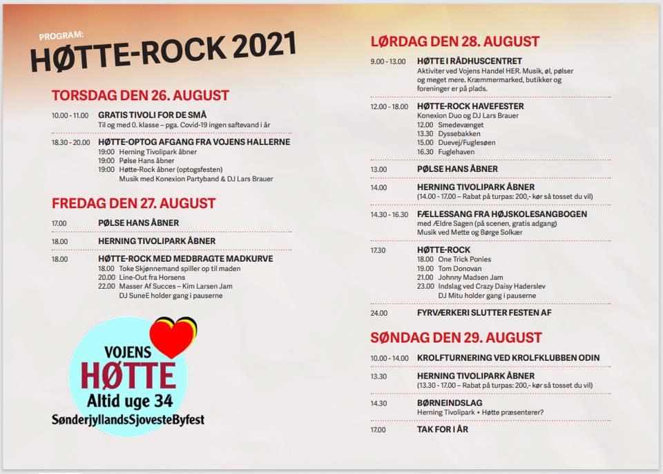 Program Vojens Høtte 2021