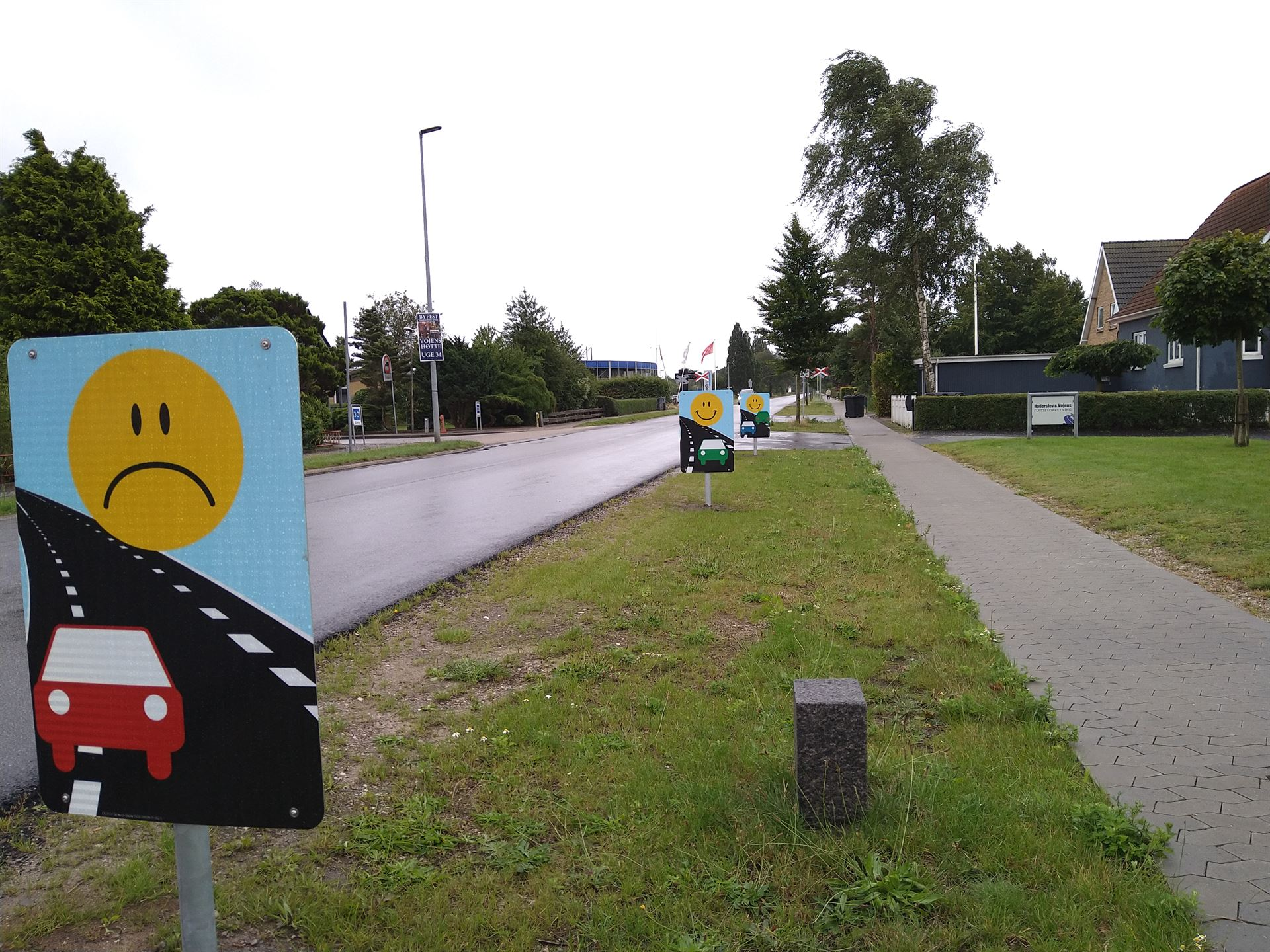 Skiltningen til 2 minus 1 vejen på Over Jerstalvej Foto: René Holm