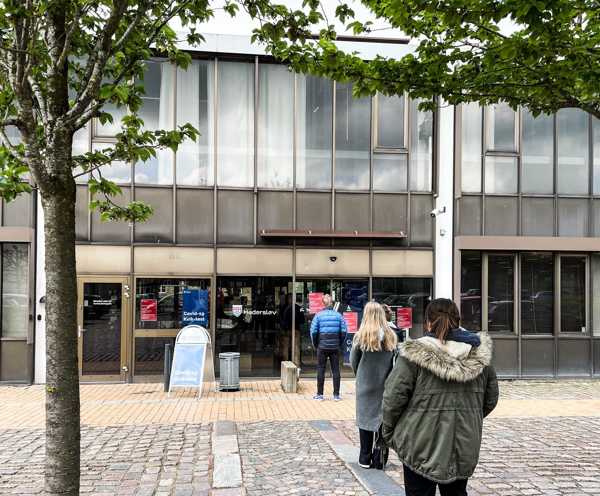 Det er fortsat muligt at blive kviktestet blandt andet på det gamle rådhus i Haderslev Foto: Haderslev Kommunes Facebookside