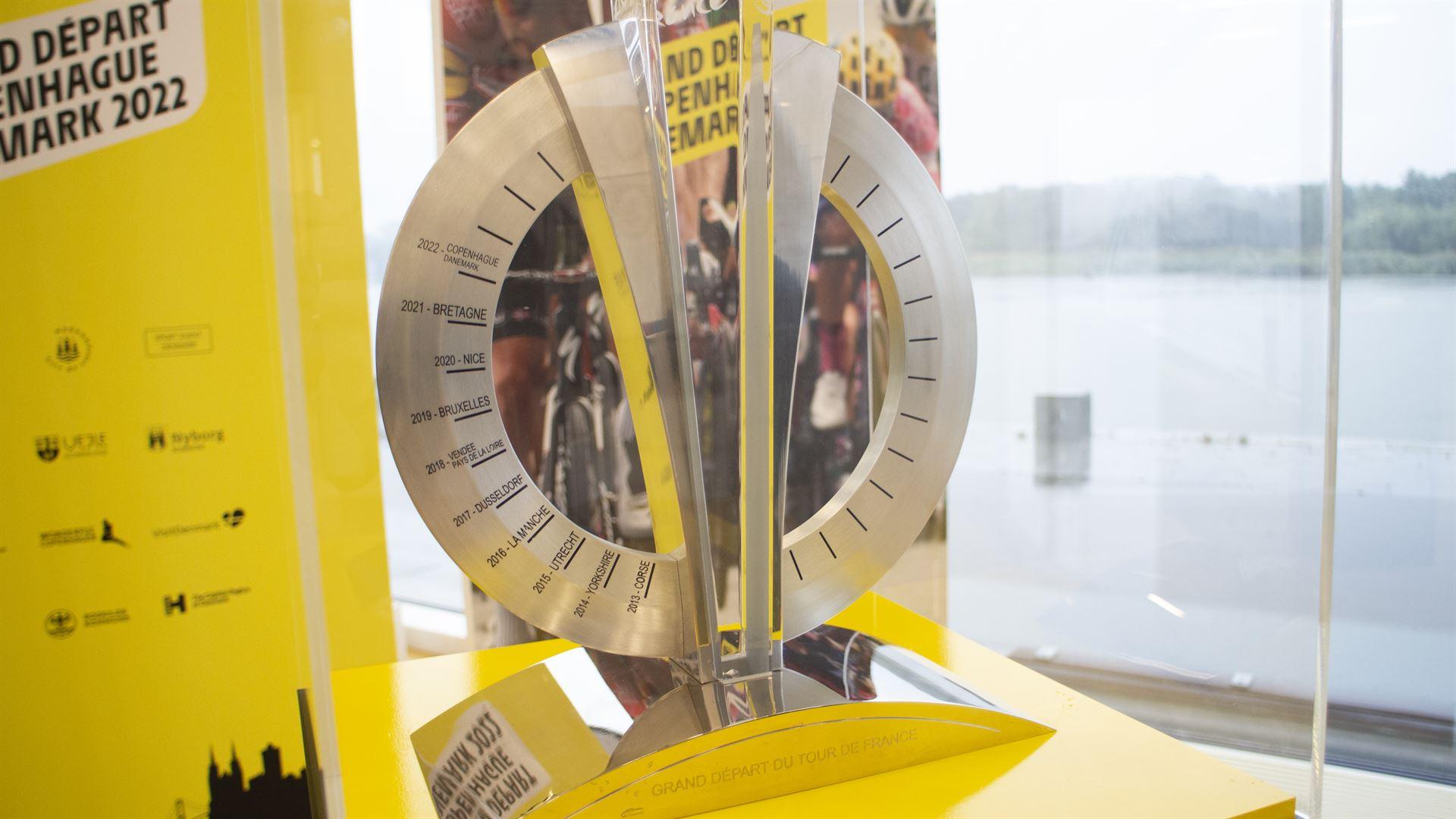 Tour de France Grand Depart trofæet på Haderslev Rådhus Foto: René Holm